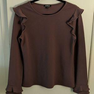 Express Ruffle Sleeve Portfolio Shirt M